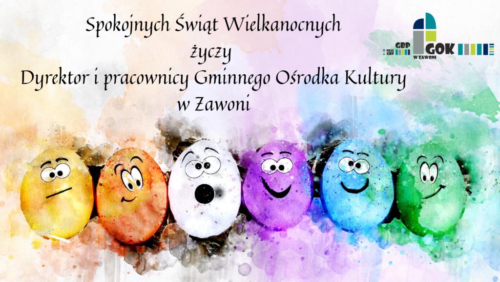 Spokojnych Świąt Wielkanocnych życzy Dyrektor i pracownicy Gminnego Ośrodka Kultury.png