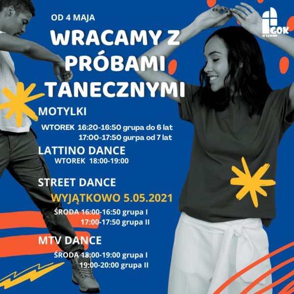 Niebieska Pomarańczowa i Żółta Kolaż Taniec Promocja Klubu Szkolnego Media Społecznościowe.png